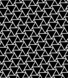 De vector moderne naadloze driehoeken van het meetkundepatroon, zwart-witte samenvatting Stock Fotografie