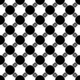 De vector moderne naadloze geruite, zwart-witte samenvatting van het meetkundepatroon Royalty-vrije Stock Fotografie