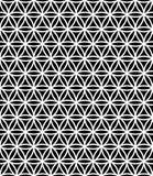 De vector moderne naadloze heilige bloem van het meetkundepatroon van het leven, zwart-witte samenvatting Stock Foto