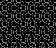 De vector moderne naadloze heilige trippy, zwart-witte samenvatting van het meetkundepatroon Stock Afbeelding