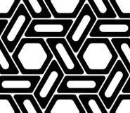 De vector moderne naadloze hexagon, zwart-witte samenvatting van het meetkundepatroon royalty-vrije illustratie