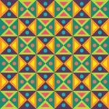 De vector moderne naadloze kleurrijke meetkundedriehoeken stippelt patroon, kleurensamenvatting Stock Foto's