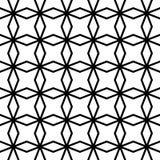 De vector moderne naadloze ster van het meetkundepatroon, zwart-witte samenvatting Stock Foto's