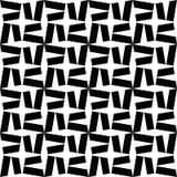 De vector moderne naadloze ster van het meetkundepatroon, zwart-witte samenvatting Stock Foto