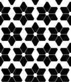 De vector moderne naadloze sterren van het meetkundepatroon, zwart-witte samenvatting Stock Afbeeldingen