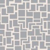 De vector moderne naadloze vierkanten van het meetkundepatroon, grijze abstracte geometrische achtergrond, zwart-wit retro textuu Royalty-vrije Stock Foto