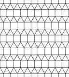 De vector moderne naadloze vierkanten van het meetkundepatroon, zwart-witte samenvatting Stock Fotografie