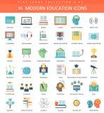 De vector Moderne reeks van het onderwijs vlakke pictogram Elegant stijlontwerp vector illustratie