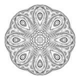 De vector Mooie Zwart-wit Contour Mandala van Deco royalty-vrije illustratie