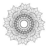 De vector Mooie Zwart-wit Contour Mandala van Deco vector illustratie