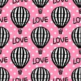 De vector Naadloze Ballon van de Patroon Hete Lucht royalty-vrije illustratie