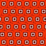 De vector Naadloze Hand Getrokken Geometrische Vierkante Abstracte Achtergrond van het Tegels Retro Oranje Patroon royalty-vrije illustratie