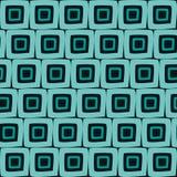 De vector Naadloze Hand Getrokken Geometrische Vierkante Abstracte Achtergrond van het Tegels Retro Oranje Patroon stock illustratie