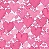 De vector naadloze krabbelharten herhalen patroon achtergrondontwerp Groot voor romantische Valentine Day-kaarten, verpakkend doc vector illustratie