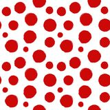 De vector naadloze vlekken en de drukken van de patroon rode inkt Royalty-vrije Stock Foto's