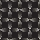 De vector Naadloze Zwart-witte het Stippelen Boogcirkel geeft Gradiënt Halftone Dot Work Pattern gestalte Royalty-vrije Stock Foto's
