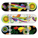 De vector Ontwerpen van het Skateboard Stock Afbeeldingen