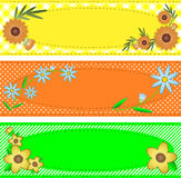 De vector Ovale Ruimte van het Exemplaar Eps10 die met Bloemen in orde wordt gemaakt Stock Afbeeldingen