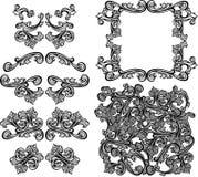 De vector Overladen Elementen van het Ontwerp Stock Foto