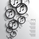 De vector overlappende achtergrond van de muzieknota Stock Foto