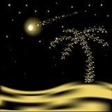 De vector palm van Kerstmis Royalty-vrije Stock Afbeeldingen