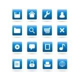 De vector pictogrammen van de widgetDesktop Stock Fotografie