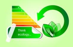 De vector pictogrammen van energieeco Stock Afbeeldingen