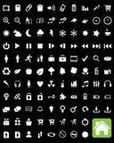 De vector Pictogrammen van het Web Stock Afbeeldingen