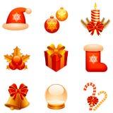 De vector pictogrammen van Kerstmis. Royalty-vrije Stock Foto