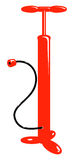 De vector pomp van de fiets rode lucht Stock Afbeelding