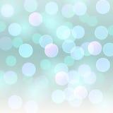 De vector realistische abstracte vage achtergrond defocused lichtblauwe bokehlichten Stock Fotografie