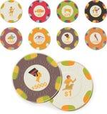De vector reeks van casinospaanders vector illustratie