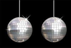 De vector reeks van de discobal royalty-vrije illustratie