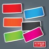 De vector Reeks van de Sticker Stock Afbeeldingen