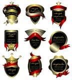 De vector reeks van goud frame etiketten Royalty-vrije Stock Foto