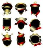 De vector reeks van goud frame etiketten Royalty-vrije Stock Afbeeldingen