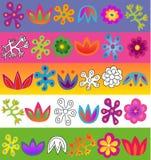 De vector reeks van het bloemenpatroon Royalty-vrije Stock Fotografie