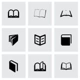 De vector reeks van het boekpictogram Stock Fotografie