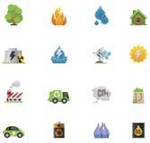 De vector reeks van het ecologiepictogram Royalty-vrije Stock Afbeelding