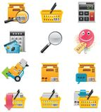 De vector reeks van het elektronische handelpictogram Royalty-vrije Stock Foto