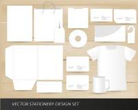 De vector reeks van het kantoorbehoeftenontwerp stock illustratie