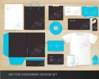 De vector reeks van het kantoorbehoeftenontwerp vector illustratie