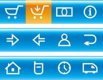 De vector Reeks van het Pictogram van de Elektronische handel Stock Afbeelding