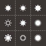 De vector Reeks van het pictogram van de Zon Royalty-vrije Stock Fotografie