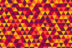 De vector retro driehoek betegelt patroon, vijf hete kleuren royalty-vrije illustratie