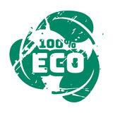 De vector retro uitstekende zegel van de ecowintertaling voor kwaliteitsteken Royalty-vrije Stock Afbeeldingen
