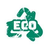 De vector retro uitstekende zegel van de ecowintertaling voor kwaliteitsteken Stock Fotografie