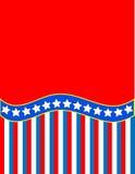 De vector Rode Witte Blauwe Gestreepte Achtergrond van de Ster Stock Fotografie