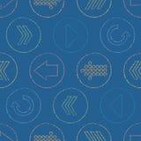 De vector Schetsmatige Pijl omcirkelt Naadloze Patroonachtergrond royalty-vrije illustratie
