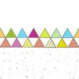 De vector schetste Gekleurde Driehoeken vector illustratie